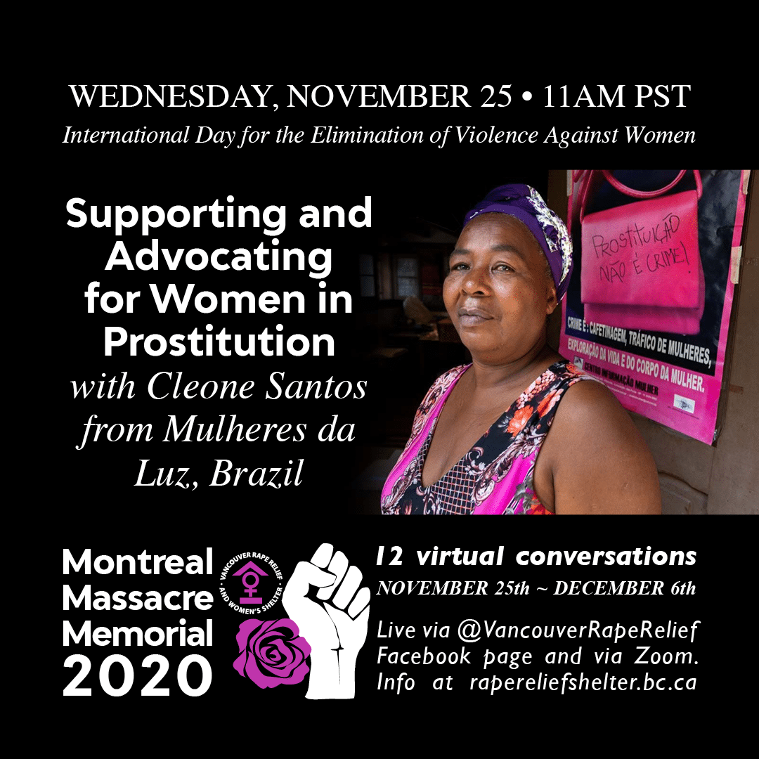 Poster: Supporting and advocating for women in prostitution